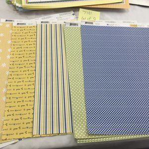 Lot of 9 Sweetwater scrapbook spring theme blue gr